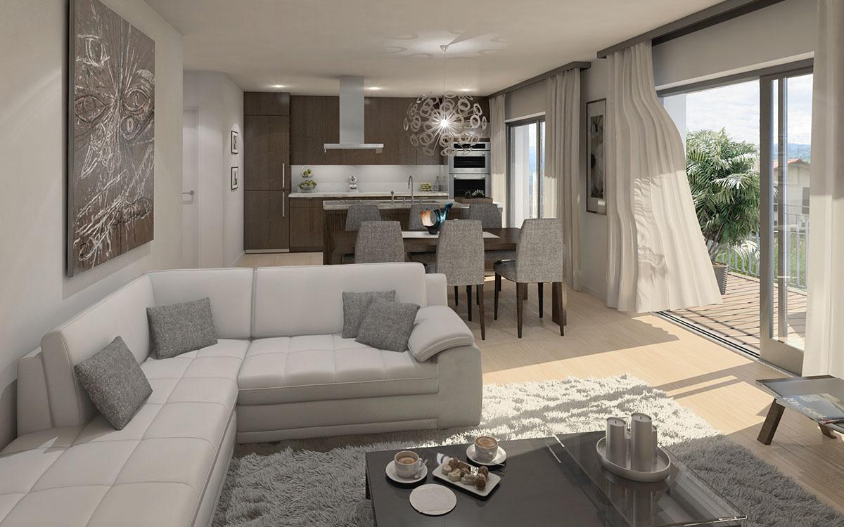 Longirod, les Champs à la Croche, longirod immeuble à vendre, vente appartement longirod, promotion, immobilier, image 3D, image de synthèse, ab-concept.